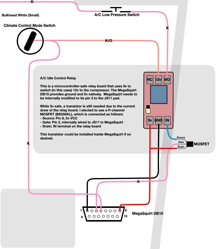 delorean wiring diagrams megasquirt a c idle up modification     joe s projects  megasquirt a c idle up modification