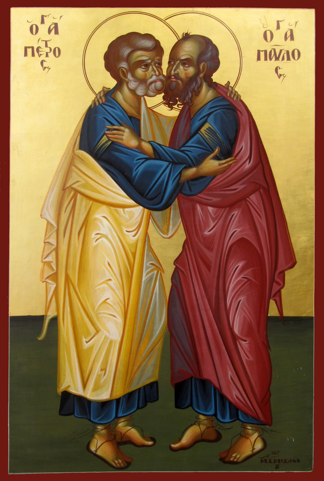 The all-glorious chiefs of the Apostles, Peter and Paul