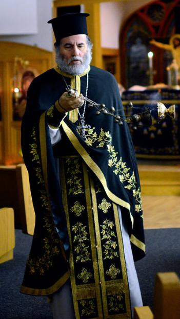 Fr. Michael censing during Orthros