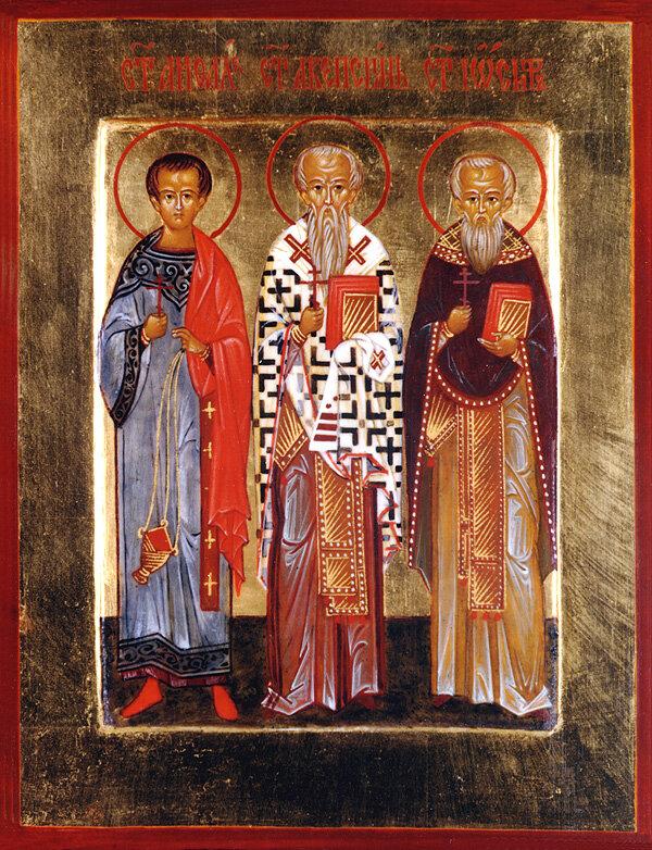 Holy Martyrs Akepsimas the Bishop, Joseph the Presbyter, and Aithalas the Deacon