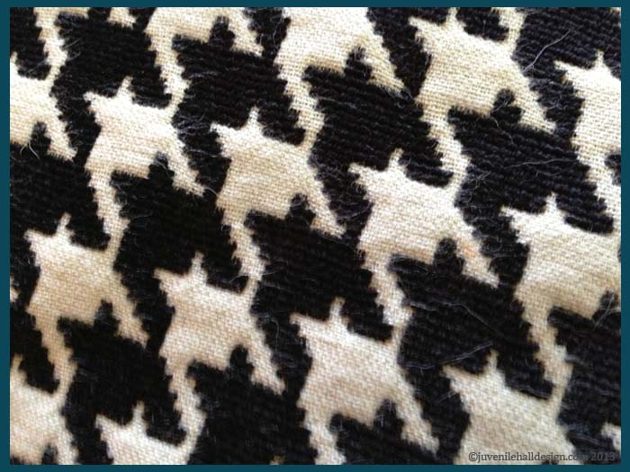 Close-up of Houndstooth Fabric