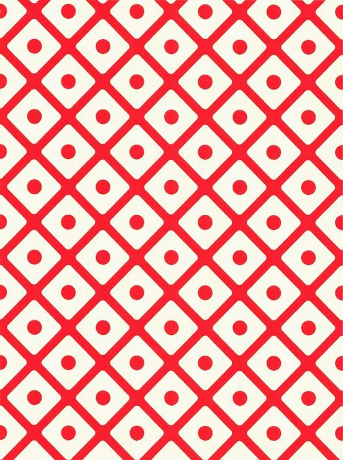 Red Lattice wallpaper by  Squinted Limited