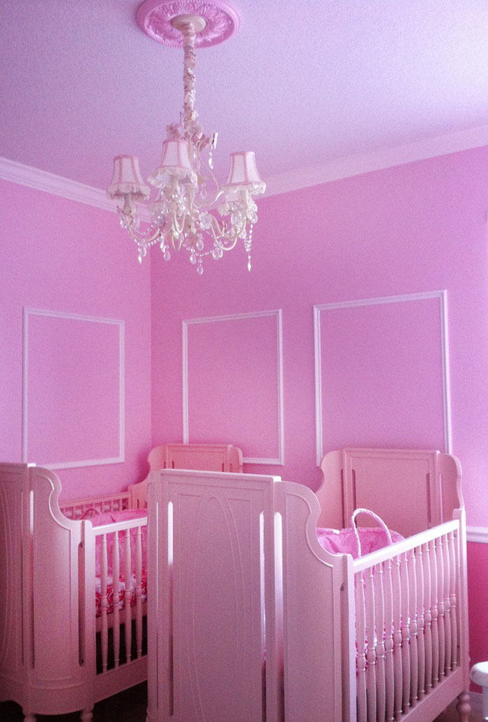 Formal, All Pink, Twin Nursery