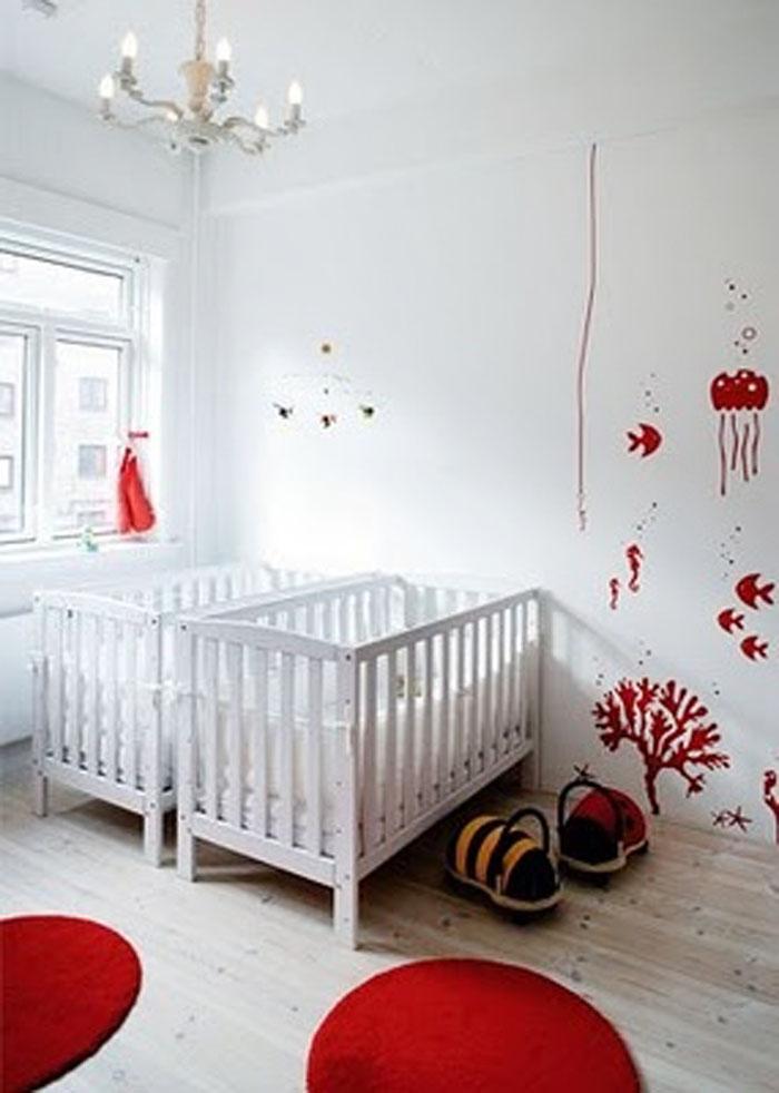 Clean Twin Nursery