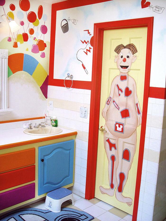 Kid's Board Game Bathroom