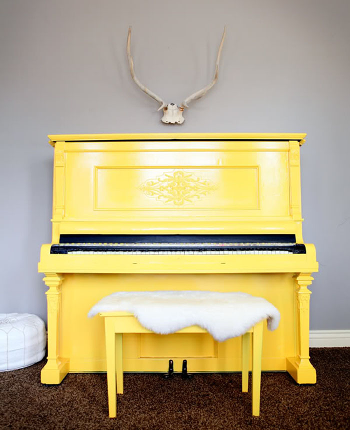 Modern Yellow Piano