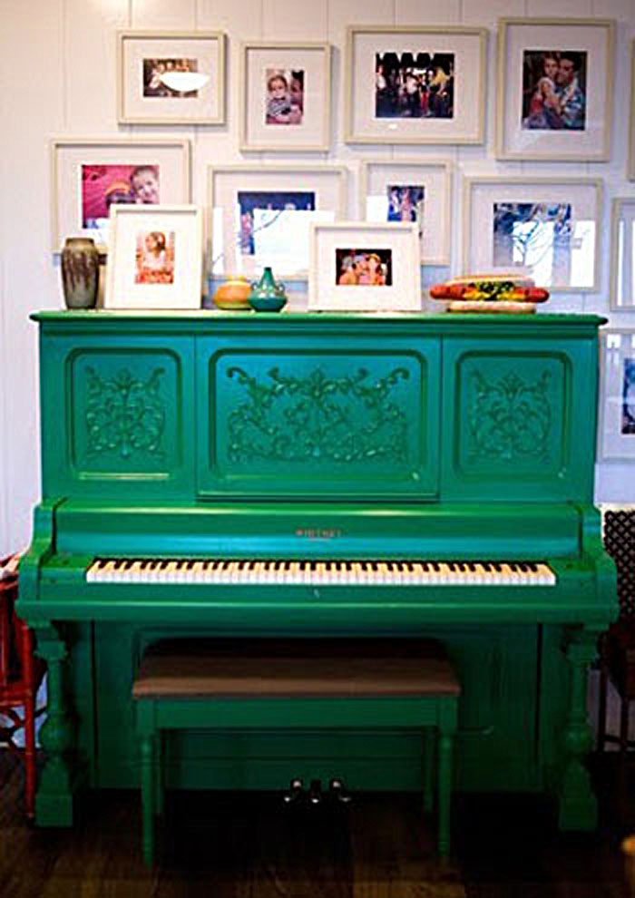 Emerald Green Upright Grand Piano