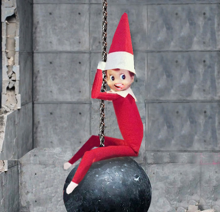 20. I Came in Like a Naughty Elf. From  Juvenile Hall Design