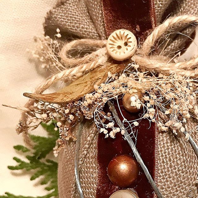 "My holiday shop is now open for ""The 12 Days if Christmas!"" Handmade, one of a kind #holiday #ornaments 12 more days for Christmas Delivery. Shop at link in bio #merrychristmas #holidaygifts #ellenmattesi #magnoliamarket #shabbychic"