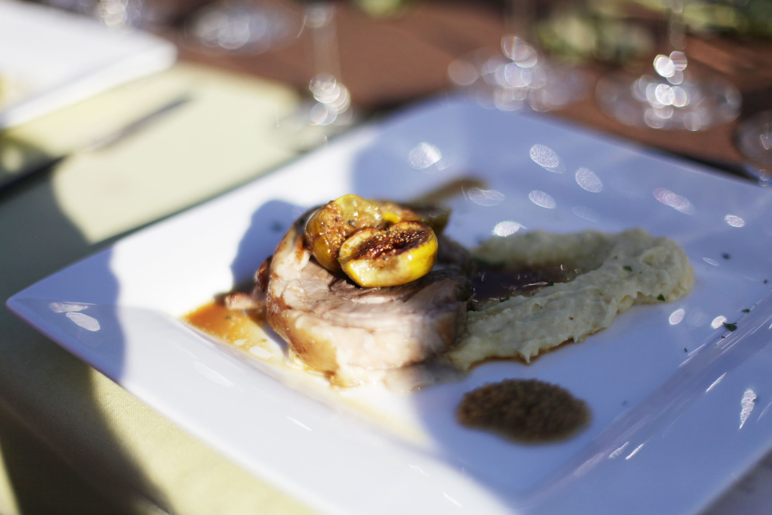 Pork Belly Porchetta on Heirloom Polenta