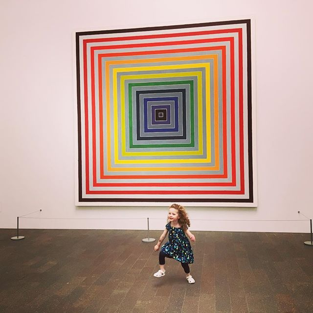 Kid loves art.