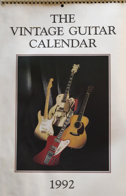 the vintage guitar calendar 1992