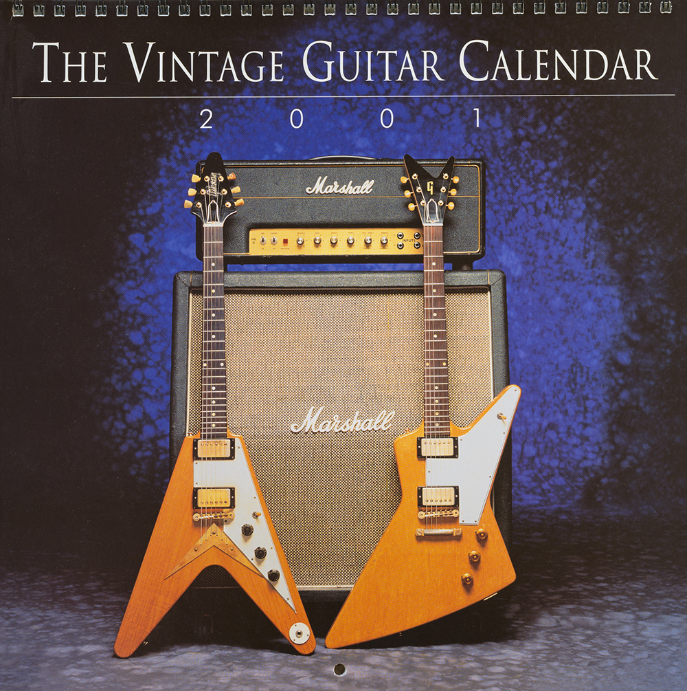 the vintage guitar calendar 2001, by bill rich, greg morgan photography
