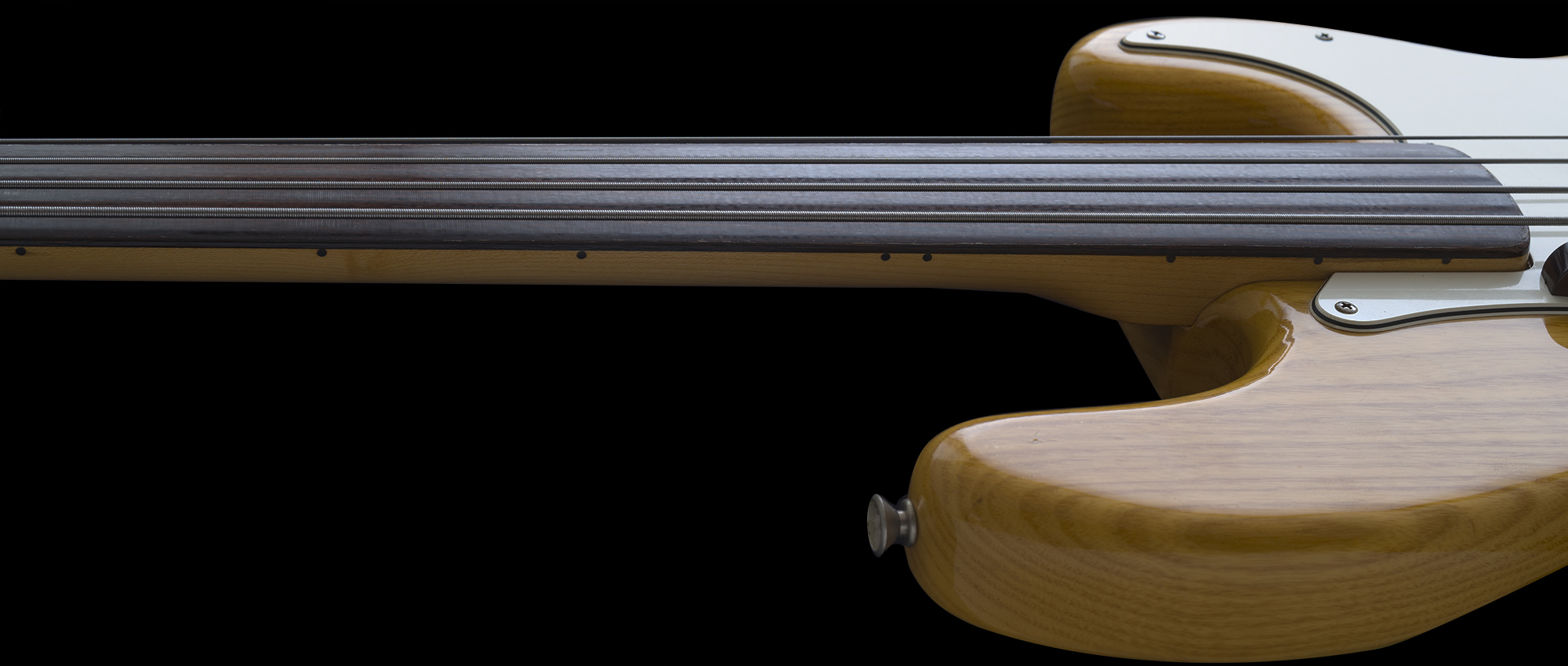 fingerboard side dots are present on Fretless Precisions