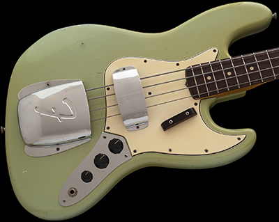 1965 Jazz Bass, Sonic Blue (yellowed clear coat) w/Matching Headstock