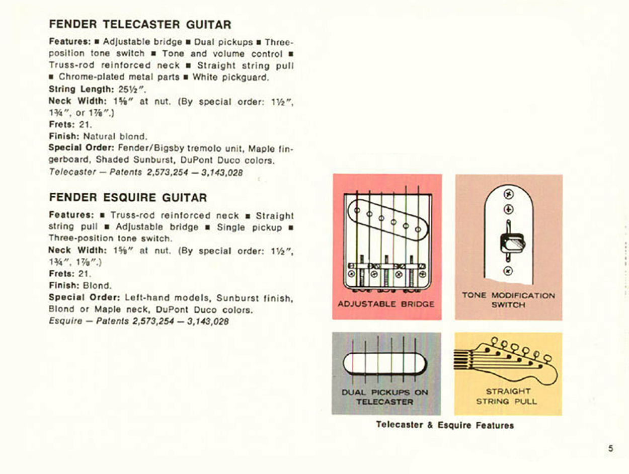 Page from the 1968 Catalog as the 1967 doesn't show the Custom Tele