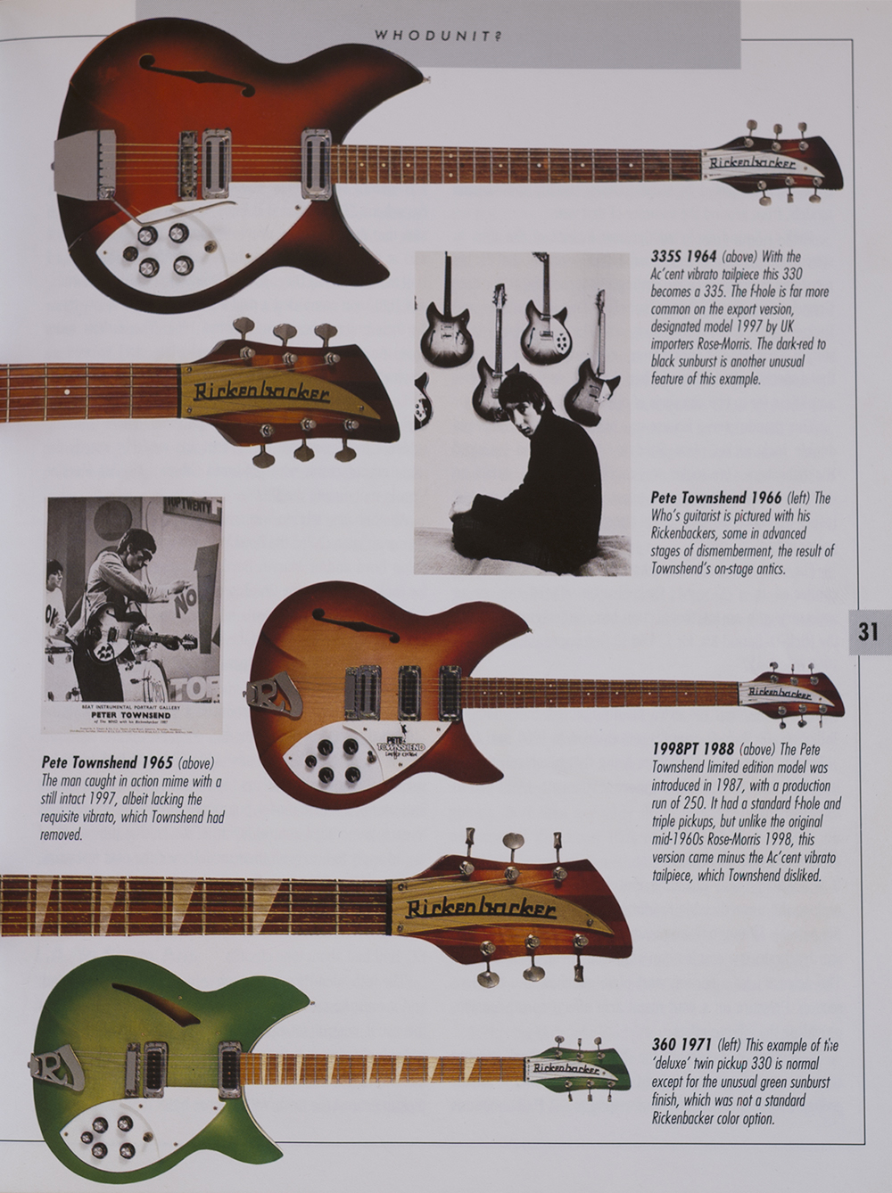 the guitar is featured on page 31 in the book