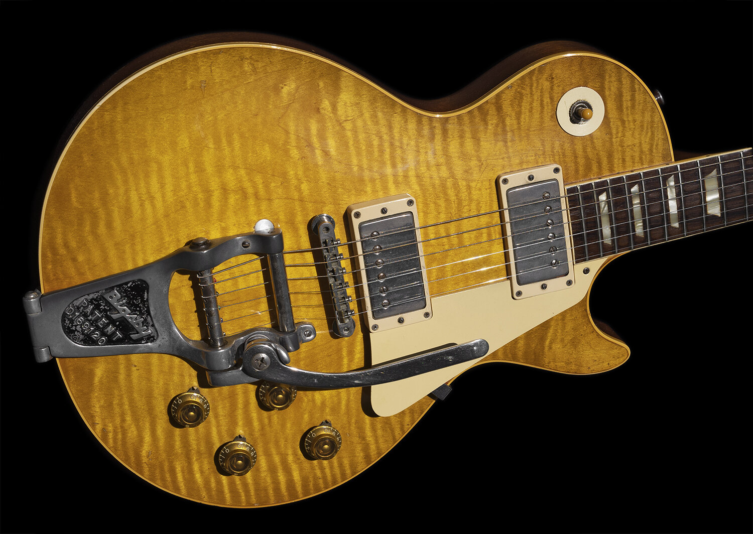 1959 Les Paul Standard, Cherry Sunburst, Factory Installed Bigsby (faded)