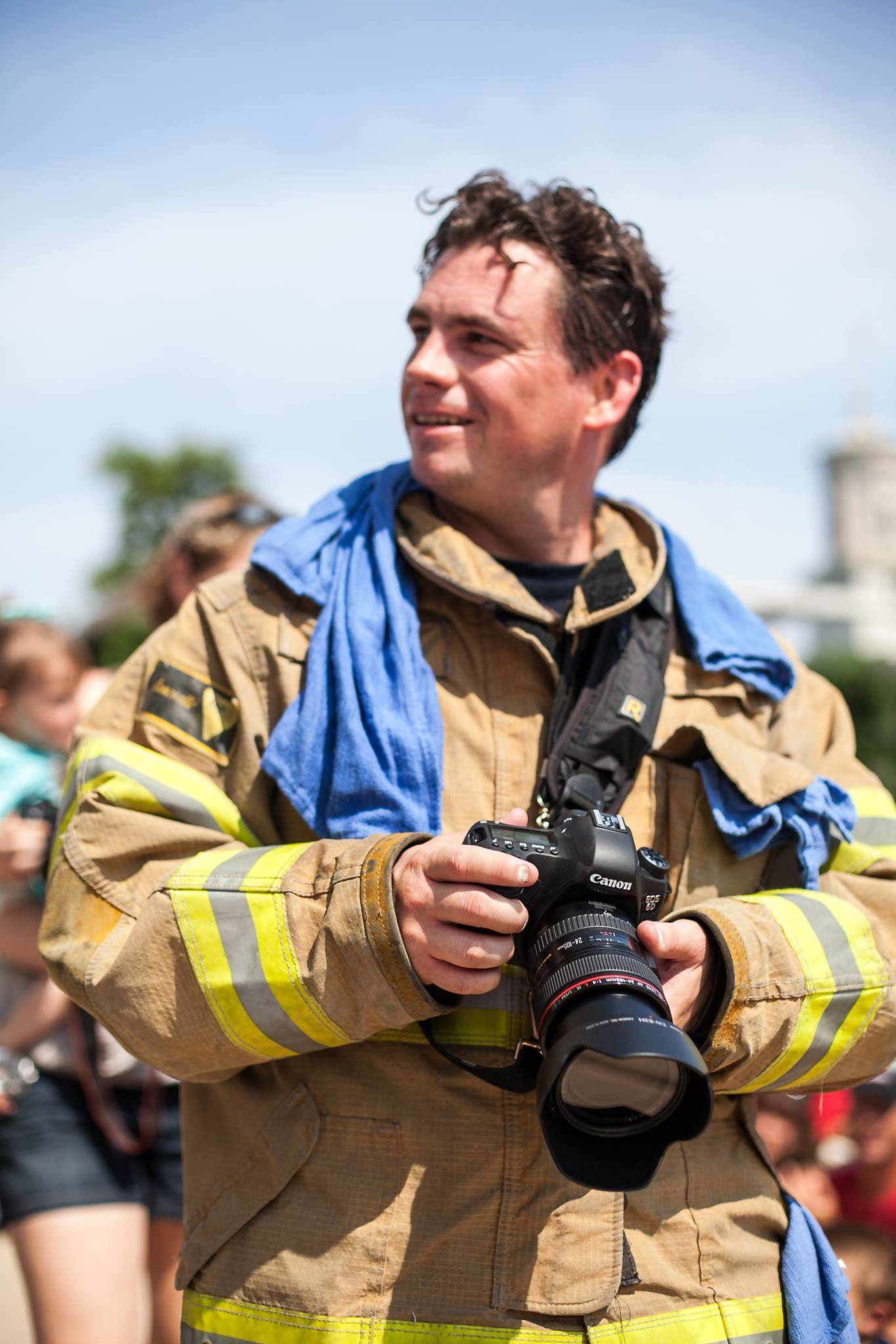 Jeb photographing the 9/11 memorial stair climb.