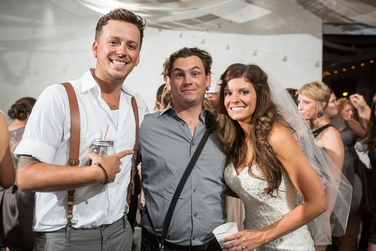 Hanging with Stephen Barker Liles & Jenna of country music duo Love & Theft at their wedding...