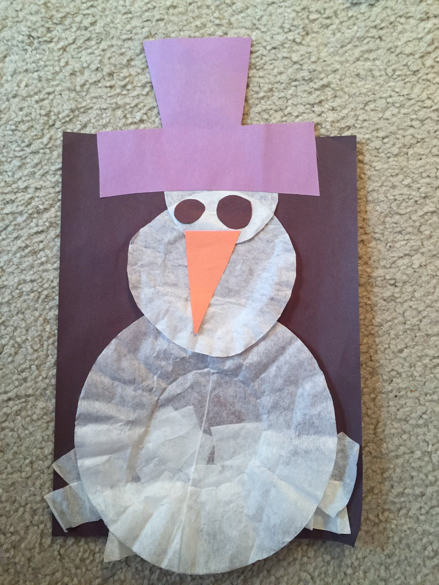 We aren't sure if Frosty's purple hat is canonical