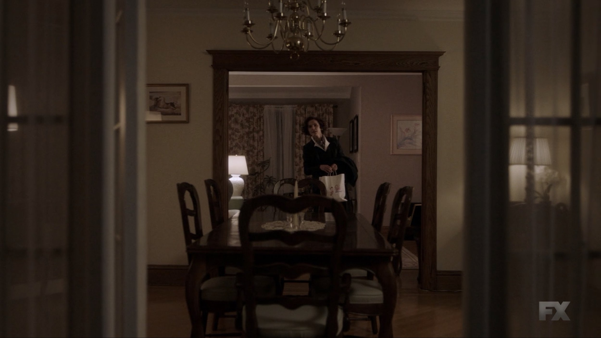 I could have posted half a dozen shots from this great scene that conveyed just how empty the house felt when Elizabeth arrived