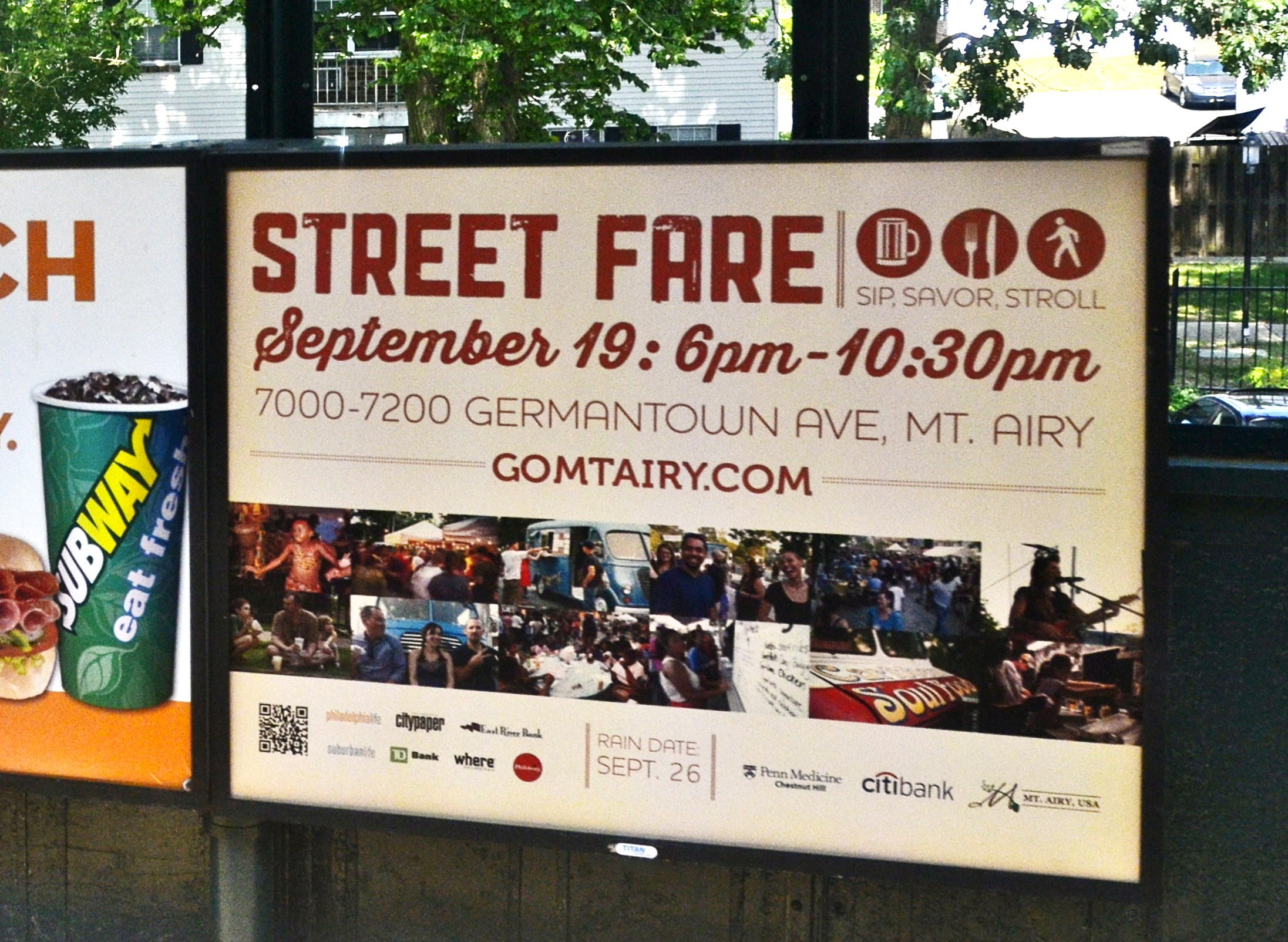 Mt. Airy, Street Fare, Sip Savor Stroll, SEPTA Posters