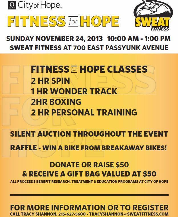 City of Hope, Fitness for Hope, Philadelphia