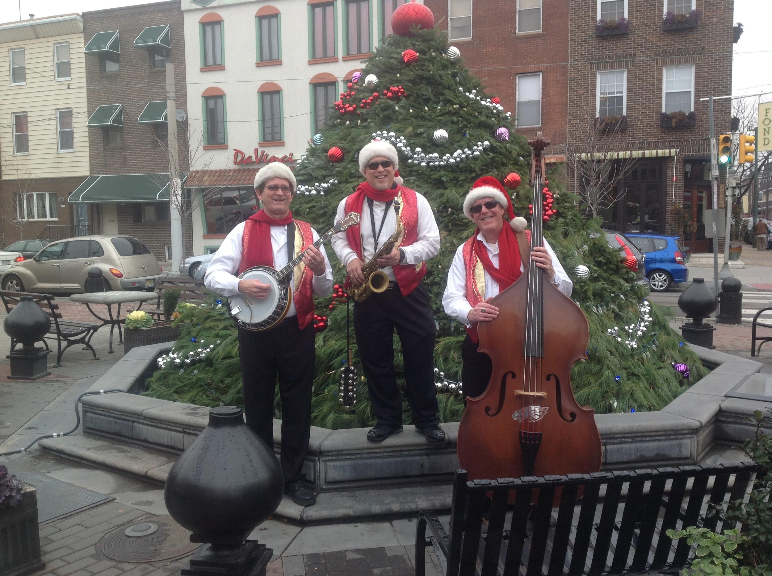Joe King Trio, East Passyunk Avenue, Christmas Tree Light, Singing Fountain