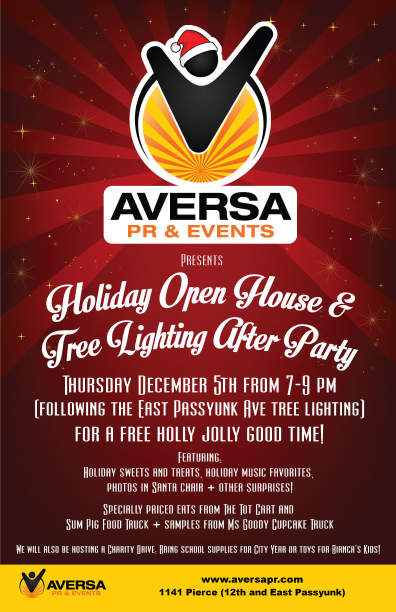 Aversa PR Holiday Party, East Passyunk Tree LIghting