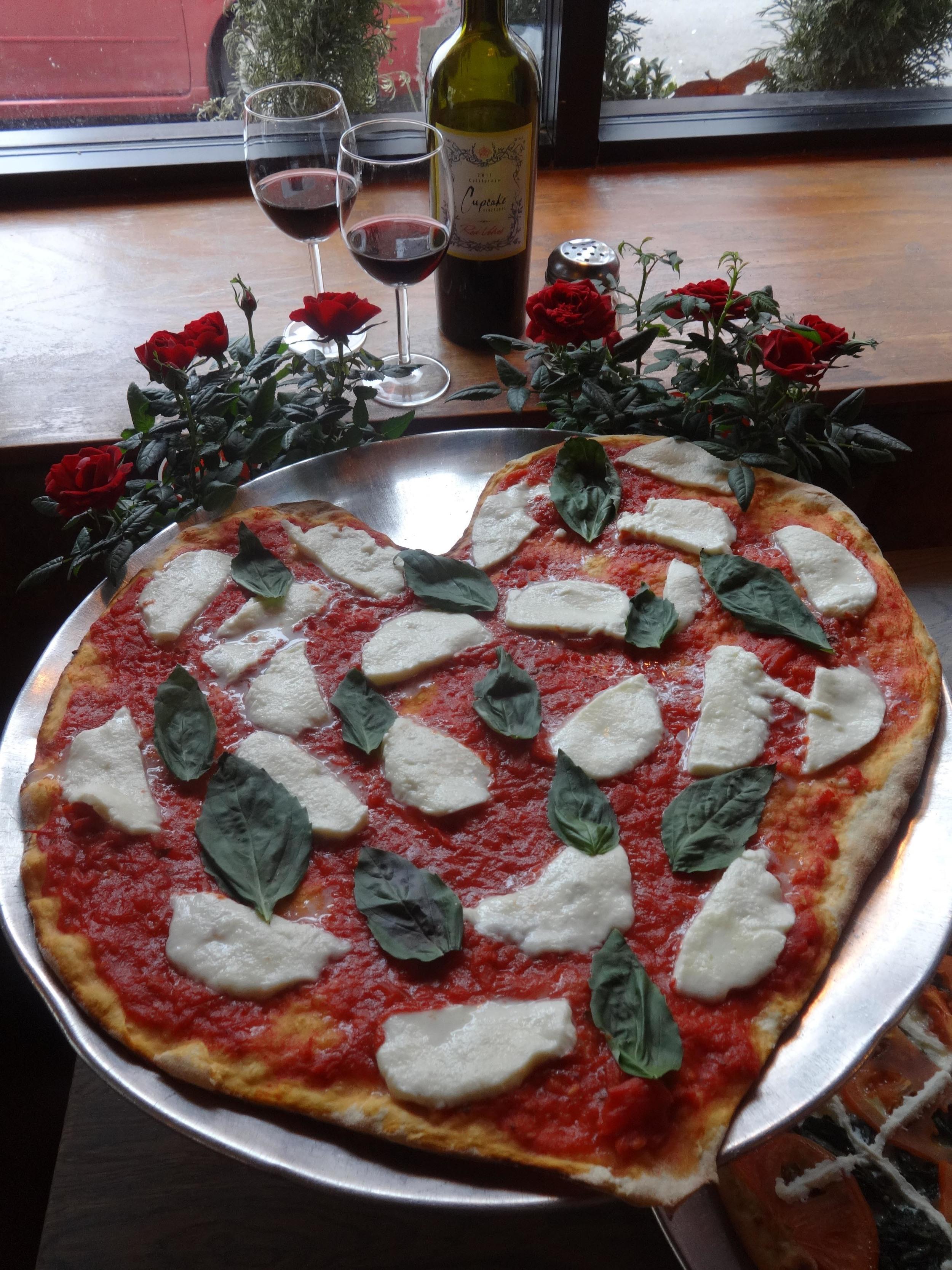 Slice Heart Shaped Pizza Philadelphia Valentine's Day