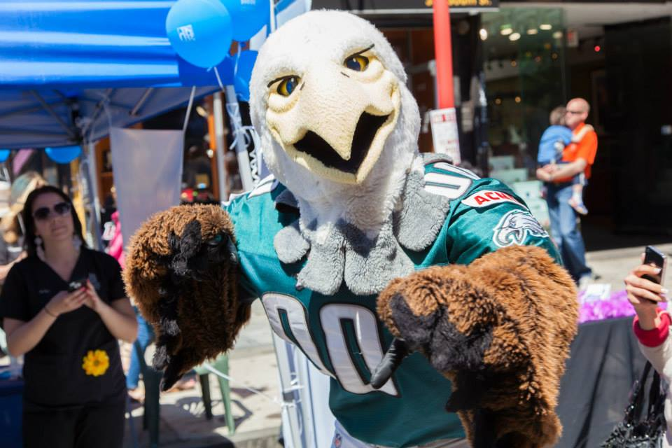 South Street Headhouse District, Eagles, Swoop, Spring Fest, South Street Spring Fest