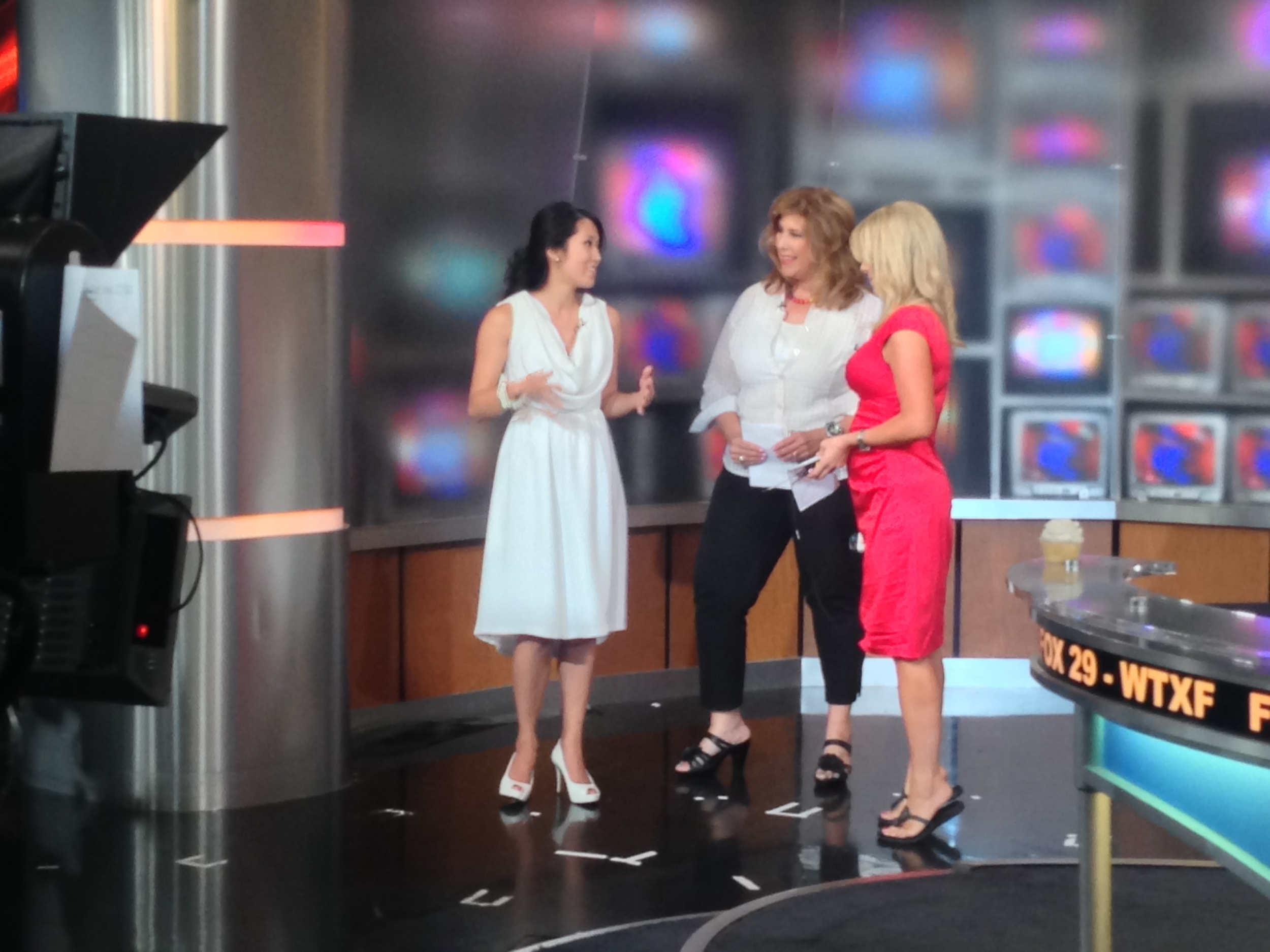 Diner en Blanc, Philadelphia, PR, TV Shoot, Fox 29, Good Day Philadelphia, Sue Serio