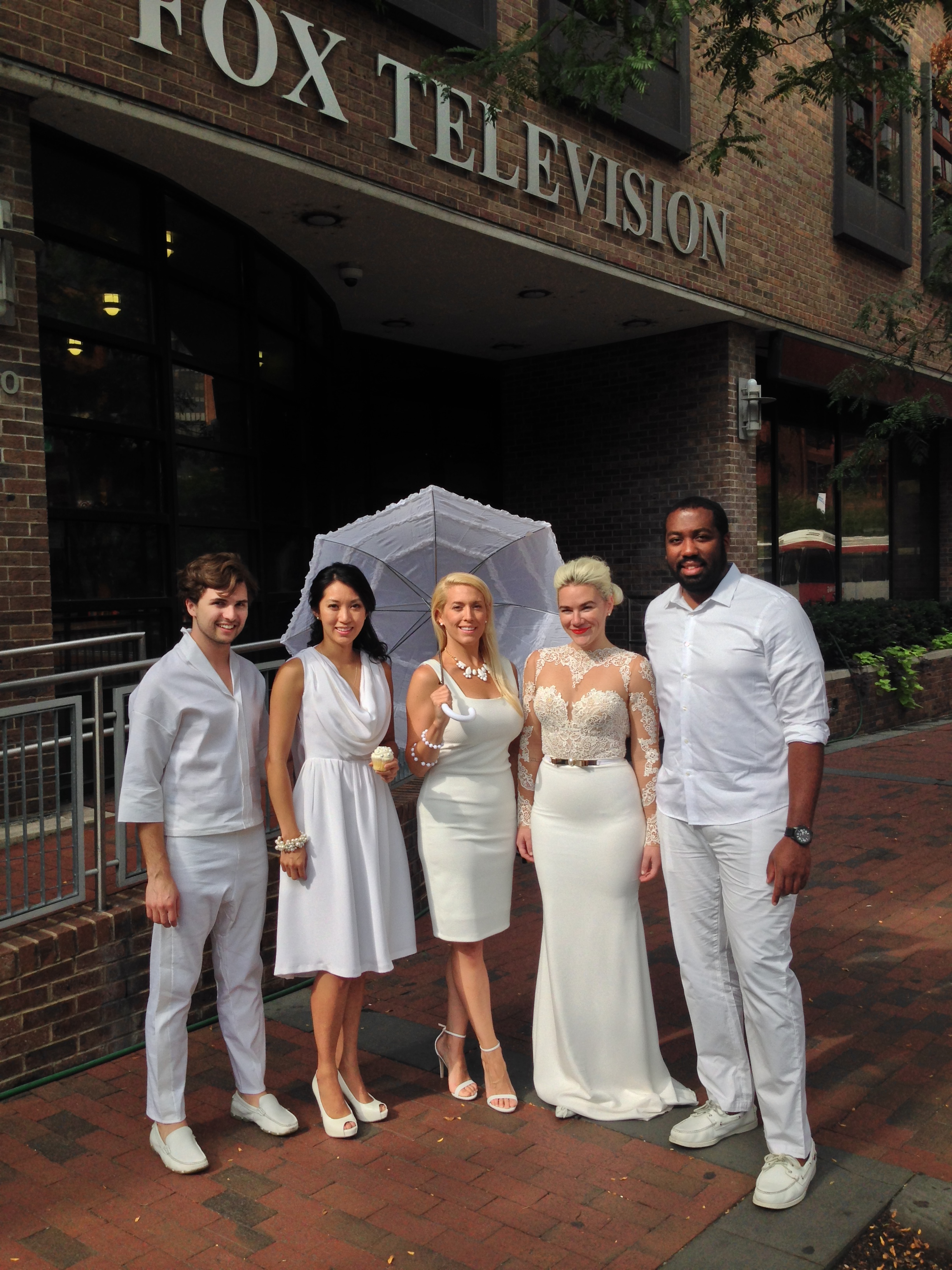Diner en Blanc, Philadelphia, PR, TV Shoot, Fox 29, Good Day Philadelphia