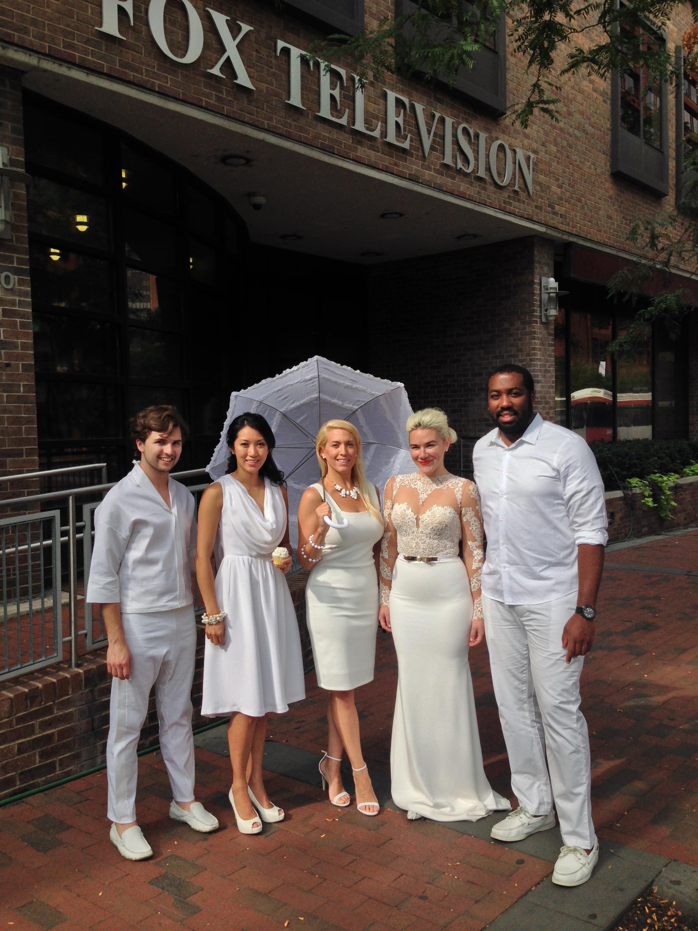 Diner en Blanc, Philadelphia, PR, TV Shoot, Fox 29, Good Day Philadelphia
