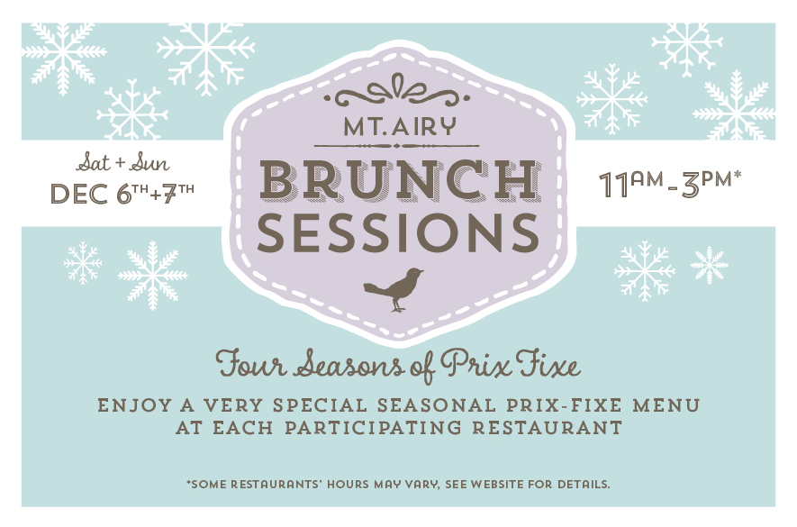 Mt Airy, Go Mt. Airy, Mt. Airy USA, Brunch Sessions, Holiday