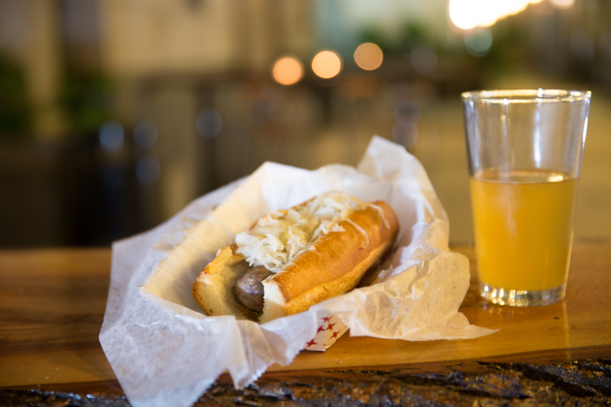Wurst and craft beer at Uptown Beer Garden.jpg