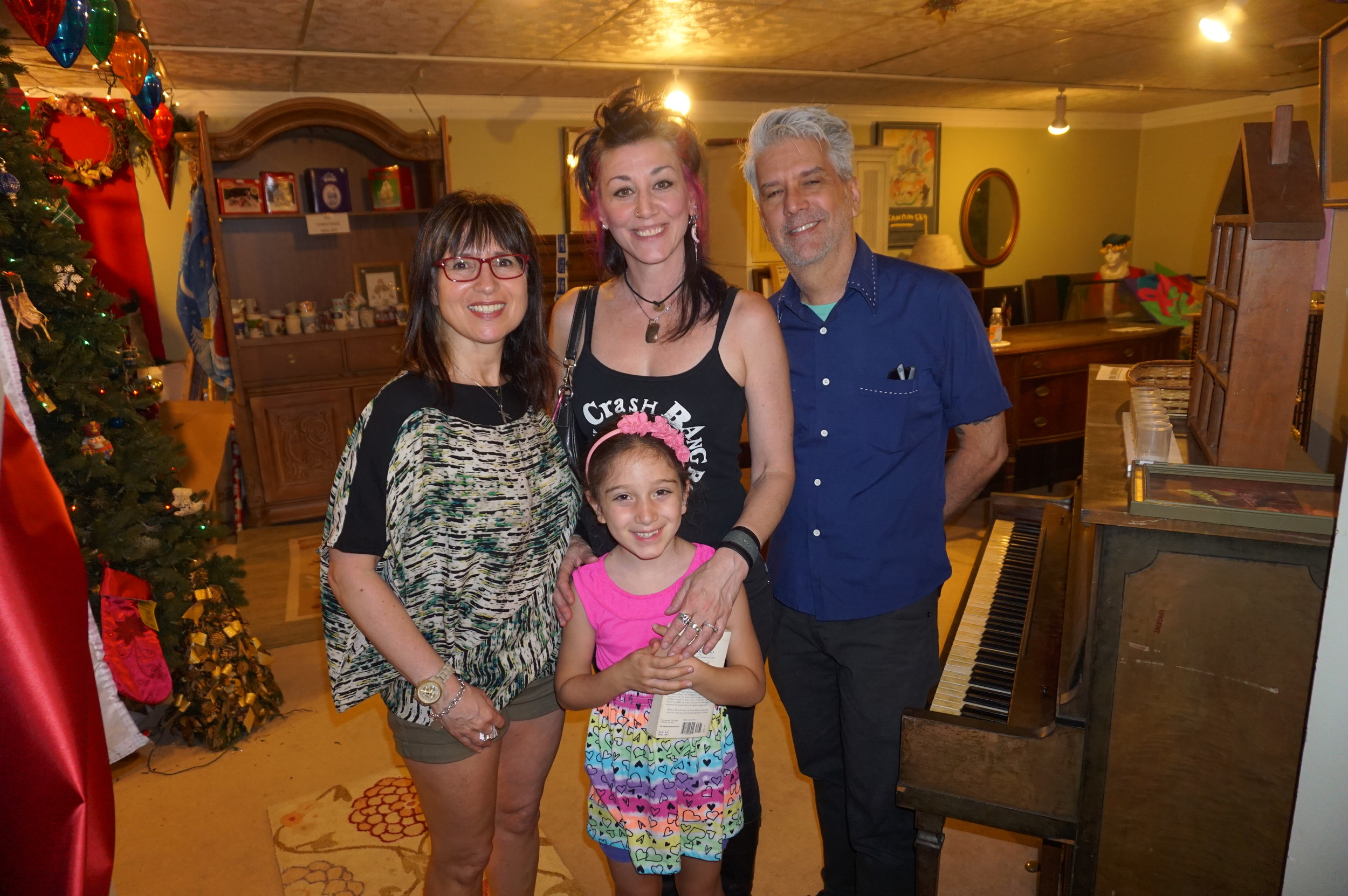 Bus Stop Boutique Owner and South Street Headhouse Board Member Elena Brennan, Crash Bang Boom co-owner Stefanie Jolles and her daughter, Robert Perry.JPG