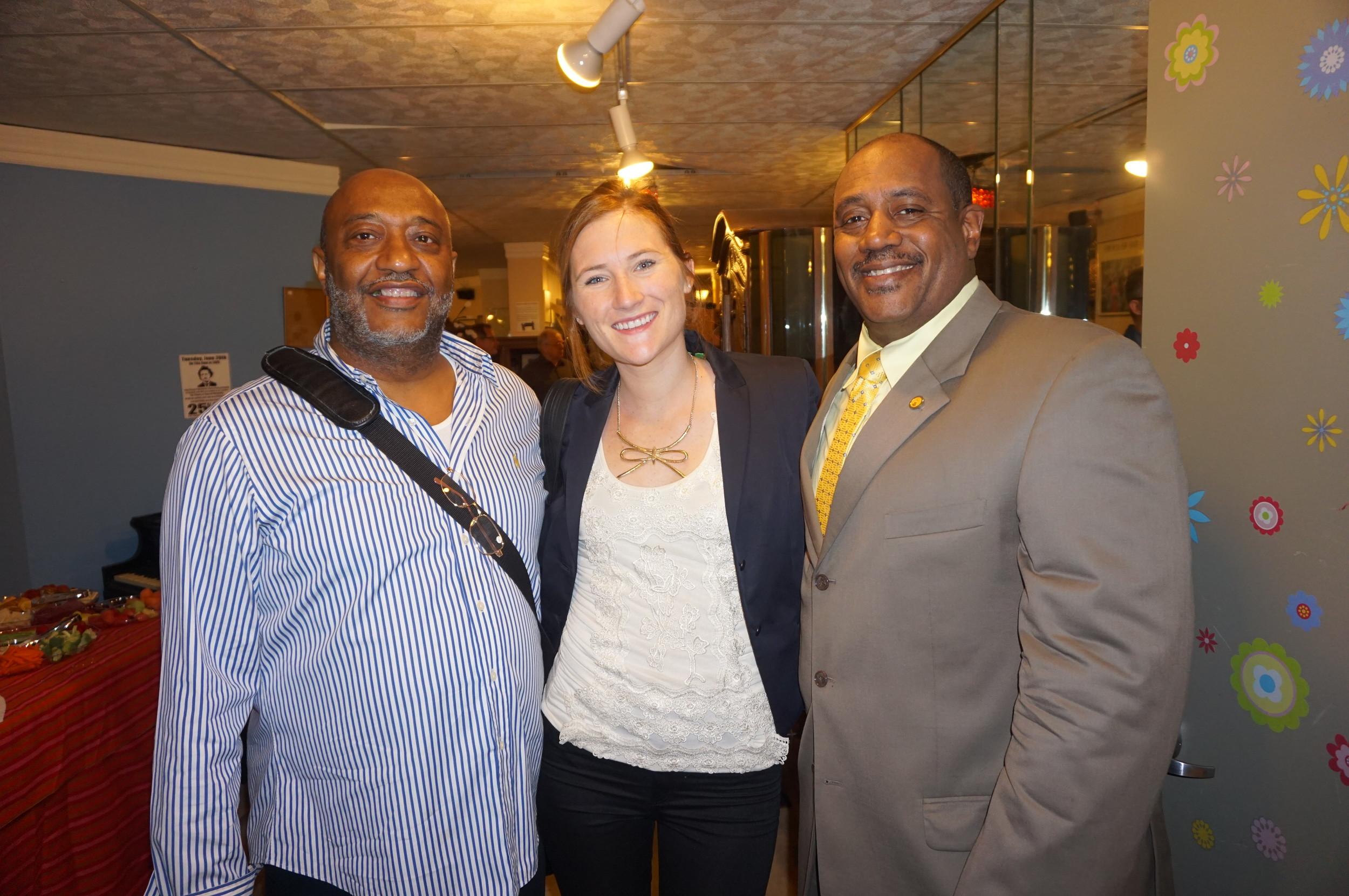 BEBASHI Antonio A, Action AIDS Kristen Gallagher, BEBASHI Executive Director Gary Bell.JPG