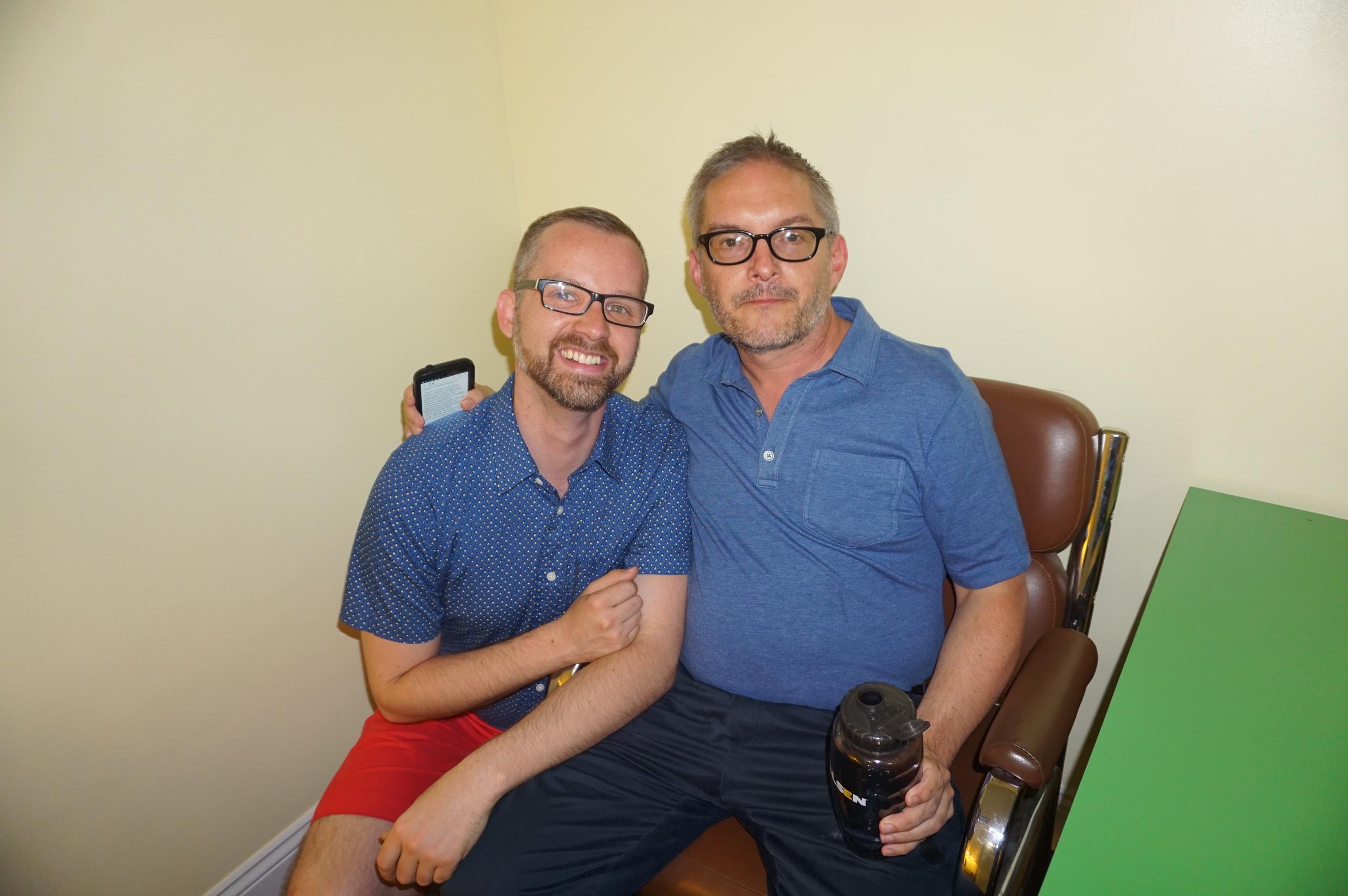 GALAEI 's Tommy Atz and William Way Community Center Executive Director Christopher Bartlett.JPG