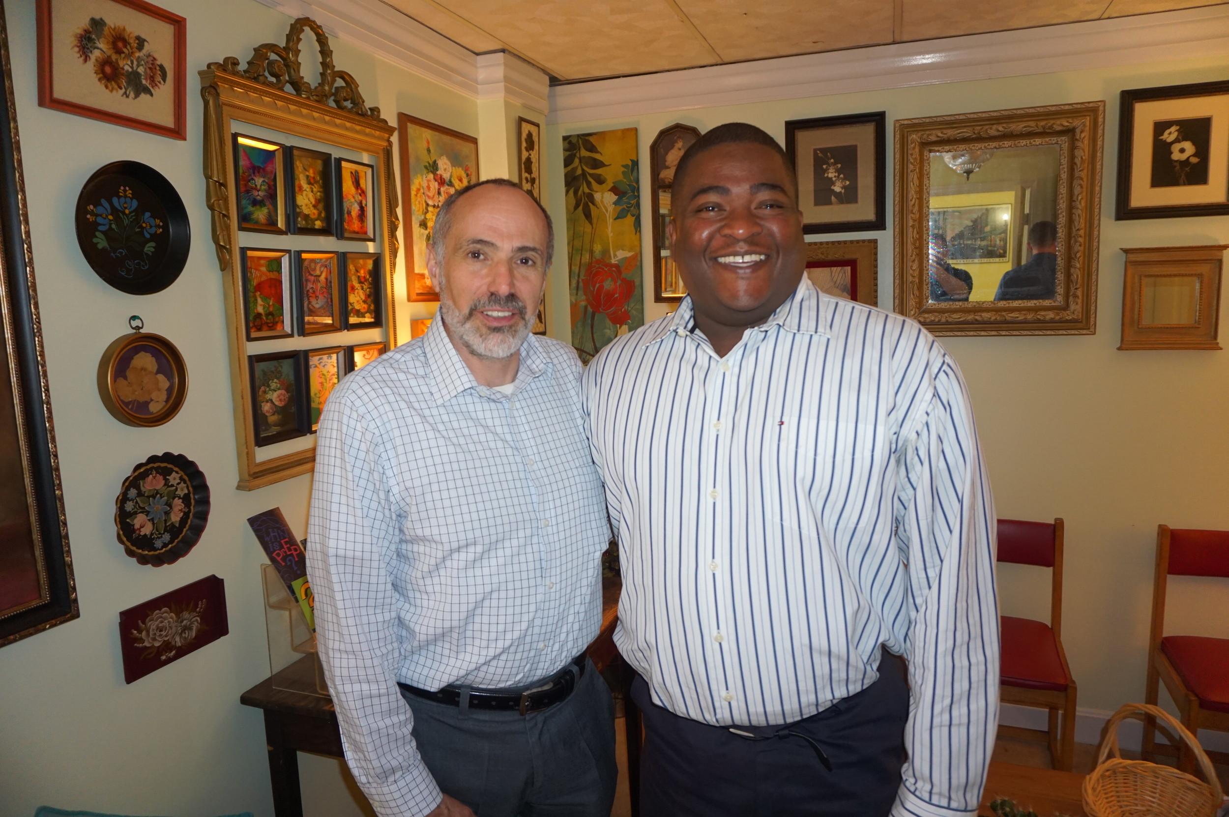 PAT Board Member Michael Gagliardi and Former Board Member Jason Evans.JPG
