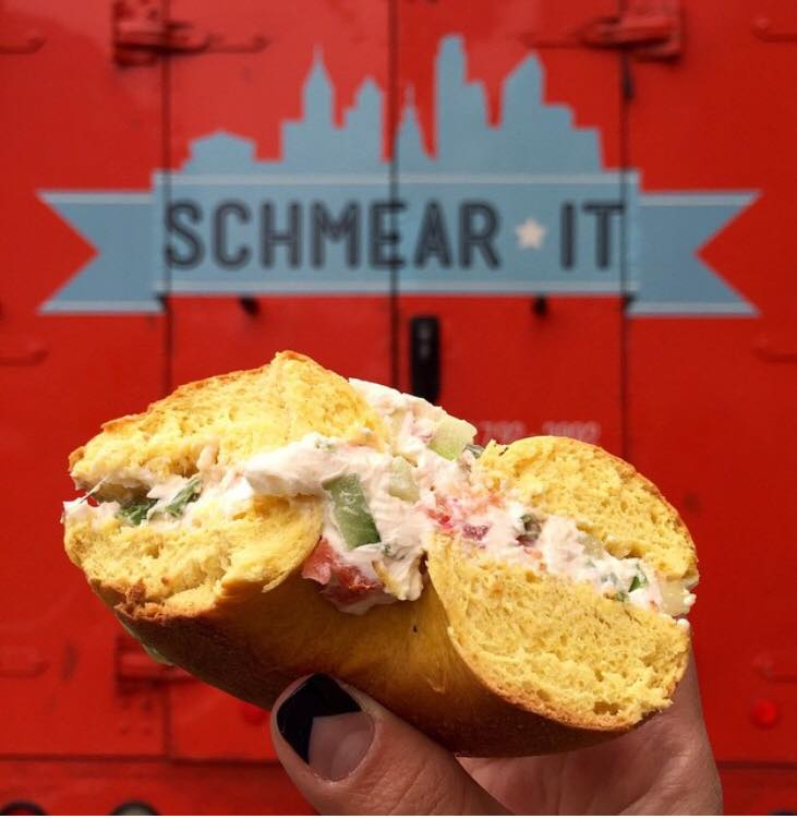 schmear it, schmear, bagels, dine out for the environment