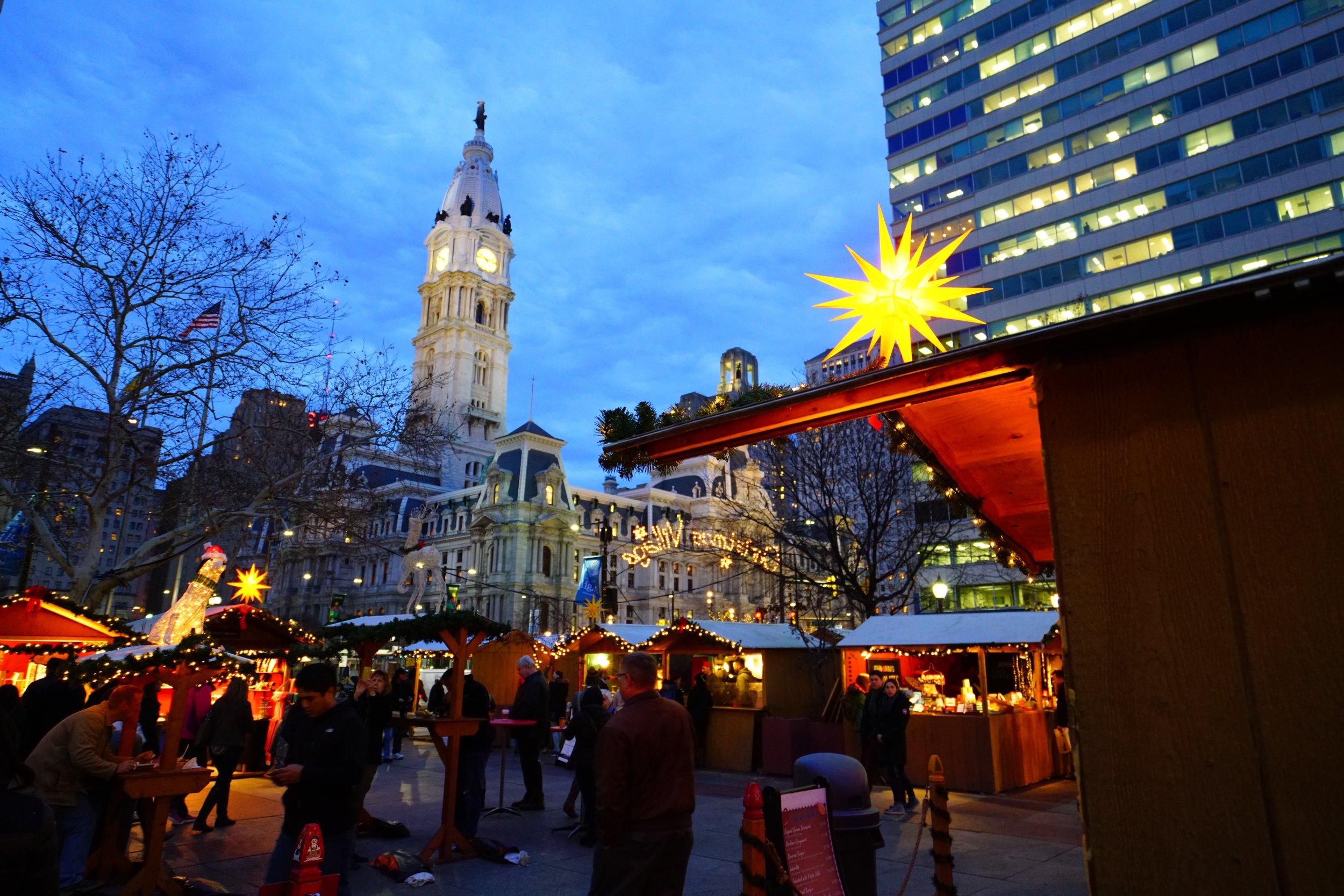 Christmas Village Philadelphia, Christmas Village City Hall, German Christmas Market