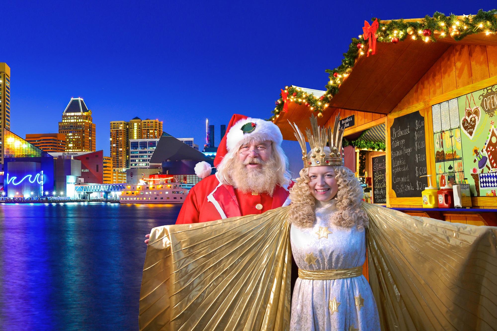 Christmas Village Baltimore, Christmas Village, German Christkind, Christmas Village Santa