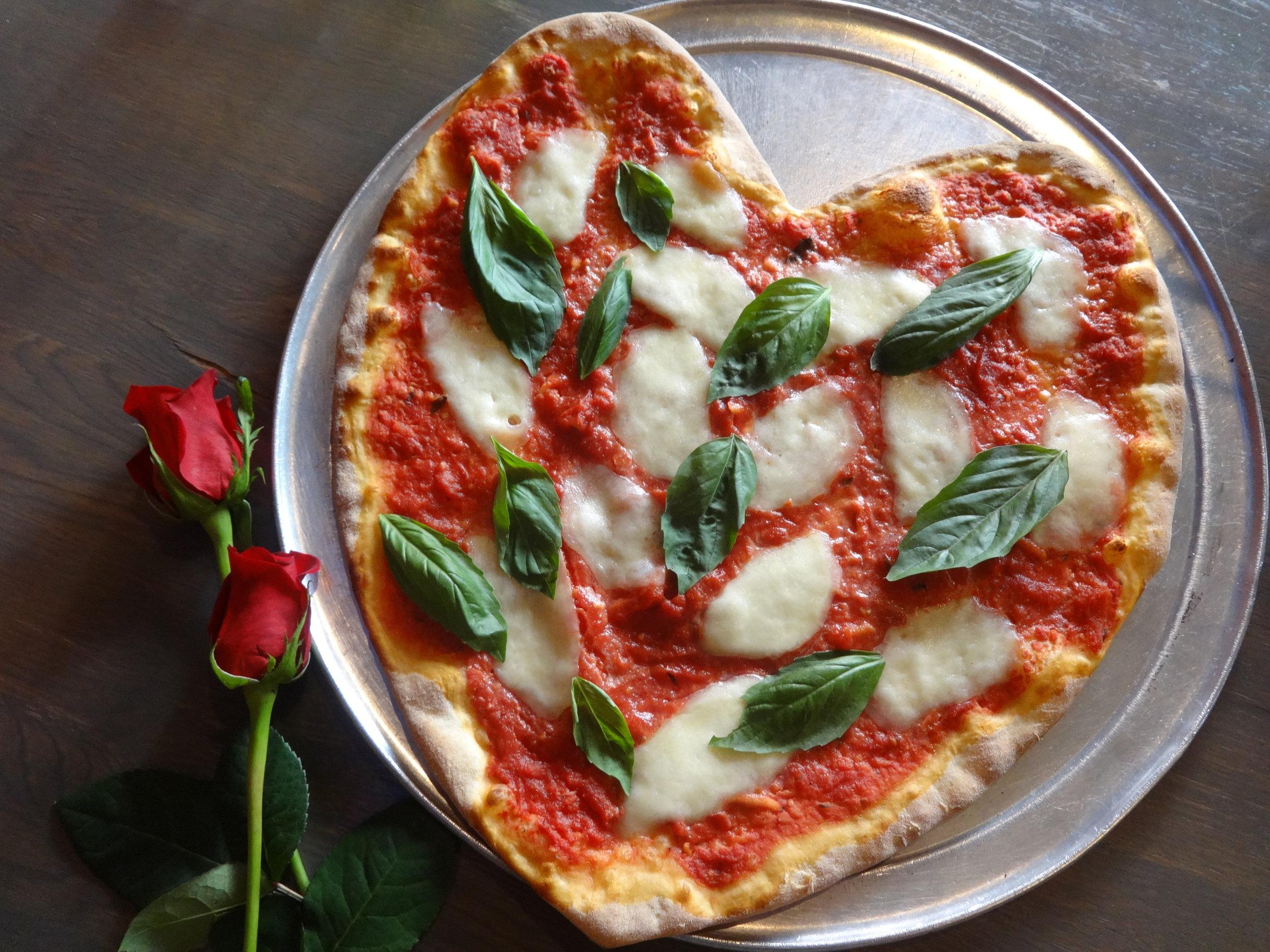 slice, sermania, romantic, heart shaped pizza, heart pizza, rittenhouse, philadelphia, valentine's day