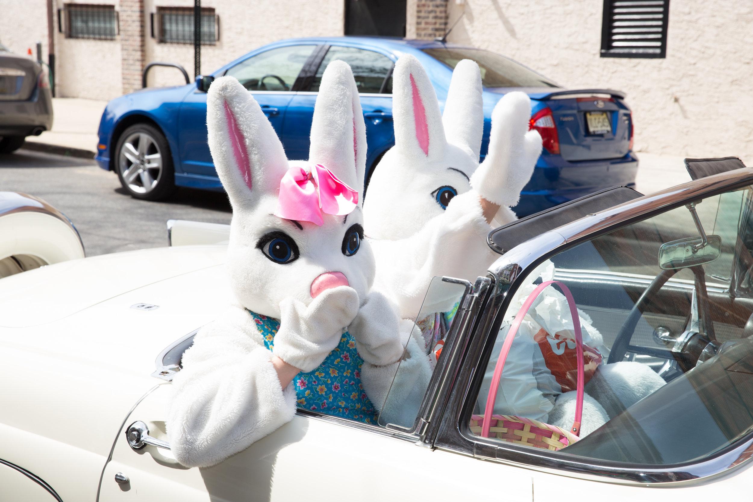 Mr. & Mrs. Cottontale, Philadelphia's 86th Easter Promenade, South Street Headhouse District