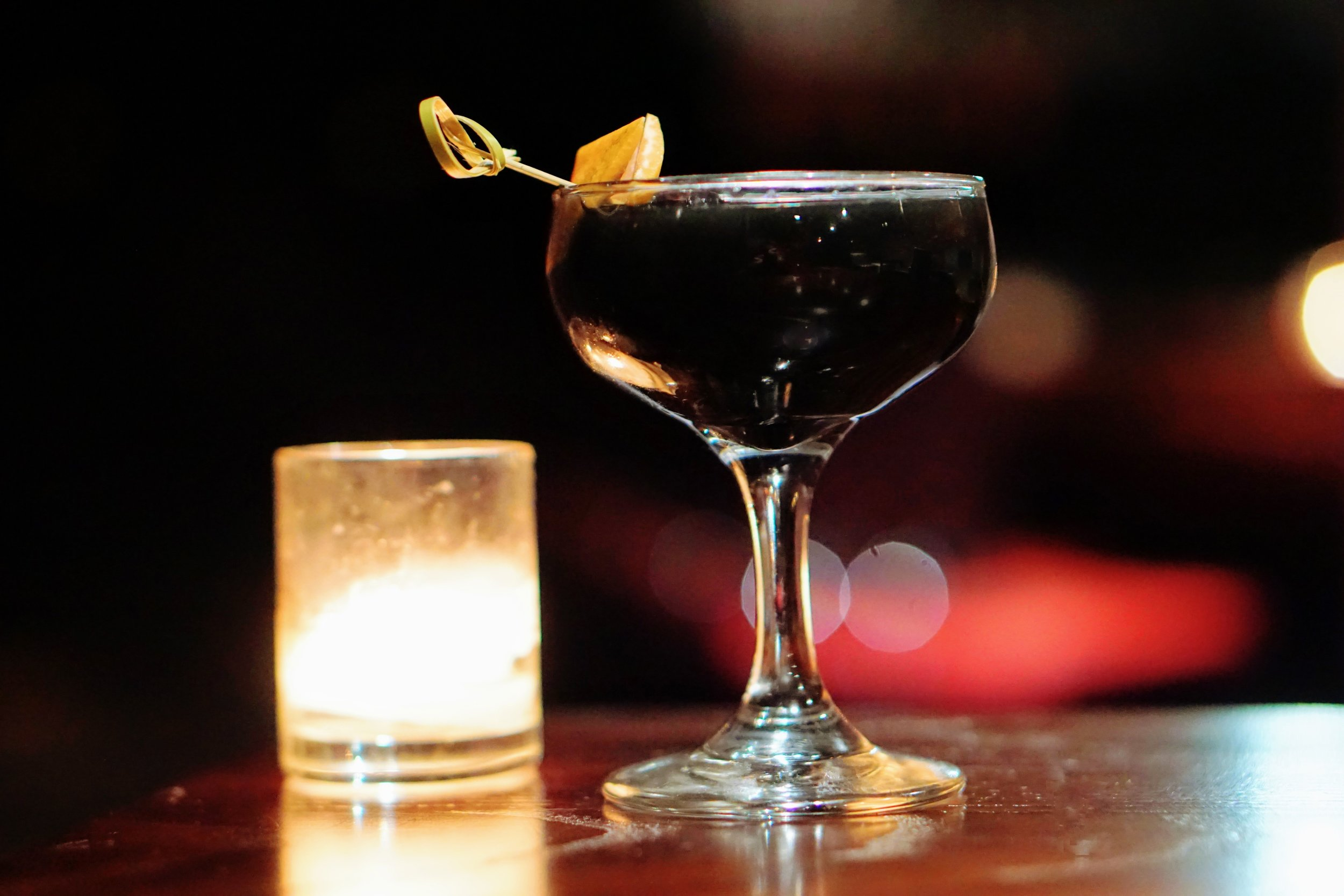 Seamus Banning - Vesper The Black Pearl  Eucalyptus, bitter citrus and spice affably dance with molasses in this dark rum cocktail, though its color remains as mysterious as The Black Pearl