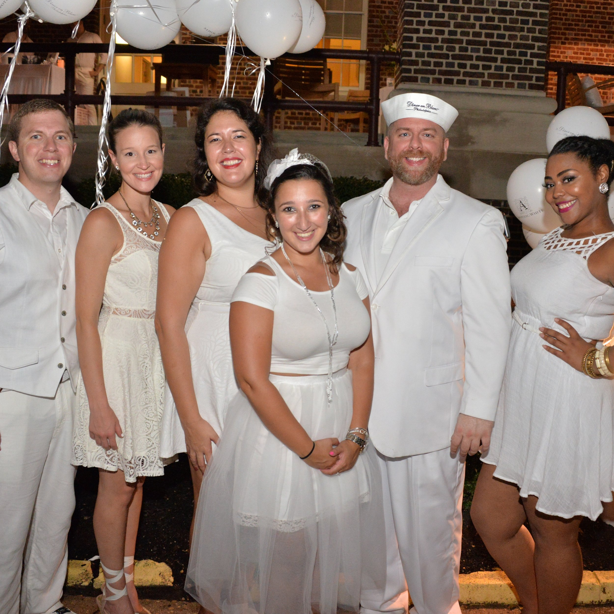Aversa PR team at Diner en Blanc Philadelphia