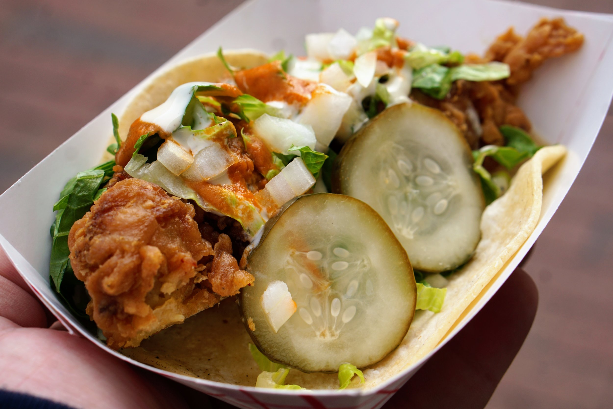 Revolution Taco Food Truck, 33rd Street Hospitality, Nashville Friend Chicken Taco