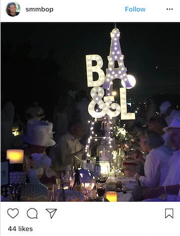 We might not be at the Diner En Blanc Paris, but it sure is fun to pretend!